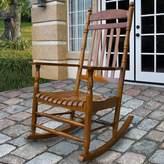 Beachcrest Home Landaff Island Porch Rocker Chair Color: Oak