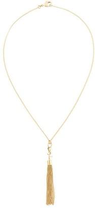 Saint Laurent Monogram mini tassel necklace
