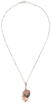 Annoushka 18kt rose gold Mythology diamond acorn seed necklace