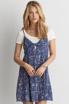 American Eagle Outfitters AE Button Front Fit & Flare Dress