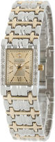 JCPenney FINE JEWELRY Personalized Dial Womens Diamond-Accent Square Two-Tone Bracelet Watch