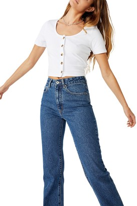 Cotton On Leni Button Through Short Sleeve Top