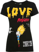 Love Moschino terrified cartoon T-shirt - women - Cotton/Spandex/Elastane - 38
