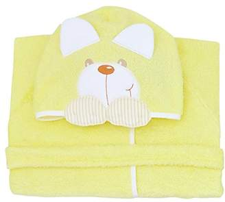 Andy & Helen 932L Dressing Gown Sleeves Embroidered Yellow