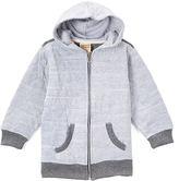 Smiths American Heather Gray Geo Quilted Zip-Up Hoodie - Toddler & Boys