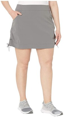 Columbia Plus Size Anytime Casual Skort (City Grey) Women's Skort