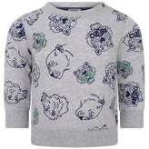 Kenzo KidsBaby Boys Grey Tiger Friends Darios Sweater