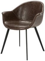 Safavieh Dublin Mid-Century Modern Leather Dining Tub Chair