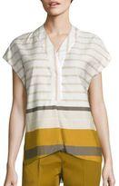 Piazza Sempione Cotton Striped Tunic