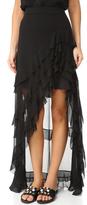 Alice + Olivia Lavera Asymmetrical Layered Ruffle Skirt