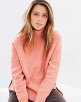 Rusty Rally Roll Neck Knit