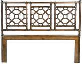 David Francis Furniture Lattice Headboard, Golden Mahogany