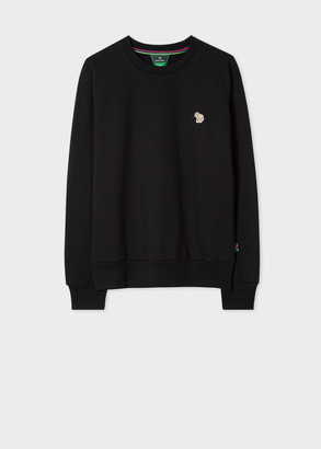 Paul Smith Women's Black Zebra Logo Organic Cotton Sweatshirt