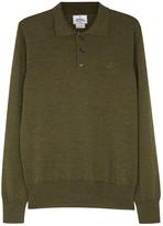 Vivienne Westwood Moss Green Wool Polo Shirt