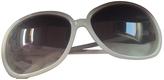 Saint Laurent White Plastic Sunglasses