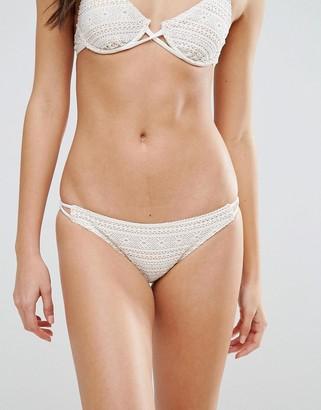 MinkPink Lace String Bikini Bottom