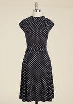 FOLTER INC Dance Floor Date A-Line Dress in Dots