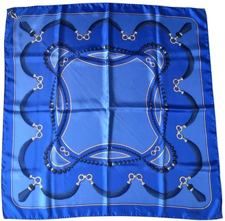 Cartier Blue Silk Scarves