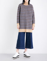 Stella McCartney Turtleneck checked wool dress