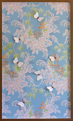 Dawn Wolfe Design Dawn Wolfe - Blue & Pink Pagoda Wallpaper Panel