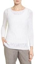 Nic+Zoe Women's Sheer Dusk Cotton Blend Layering Sweater