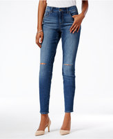 Style&Co. Style & Co. Slit-Knee Skinny Jeans, Only at Macy's