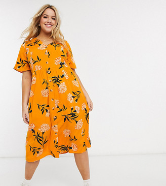 Wednesday's Girl Curve Wedensday's Girl Curve midi tea dress in vintage floral