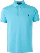 Polo Ralph Lauren embroidered logo polo shirt - men - Cotton/Spandex/Elastane - M
