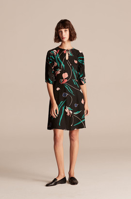Rebecca Taylor Botanical Bloom Short Dress