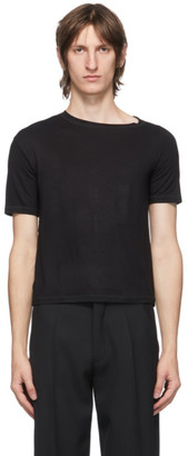 Carlota Barrera Black Asymmetric T-Shirt