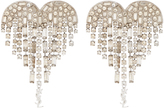 Saint Laurent Shooting Heart embellished clip-on earrings