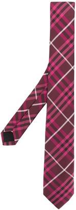 Burberry slim cut check tie