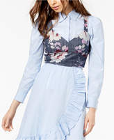 Jill Stuart Cotton Chambray Crop Top, Created for Macy's