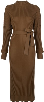Proenza Schouler Slouchy Ribbed Knit Dress