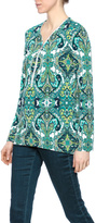 Joseph Ribkoff Paisley Zipper Top