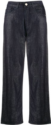 Emporio Armani High-Waist Cropped Trousers