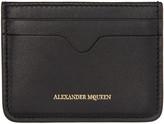 Alexander McQueen Black Leather Card Holder