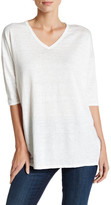 Kinross 3/4 Length Sleeve Linen Tunic