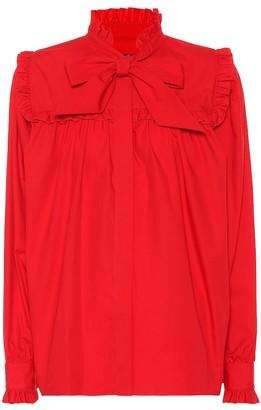 ALEXACHUNG Cotton poplin blouse