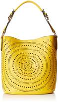 MG Collection Calista Perforated Shoulder Bag