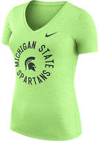 NIKE TEAM Women's Nike Michigan State Spartans College Dri-FIT Touch V-Neck T-Shirt