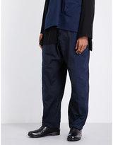 Yohji Yamamoto Relaxed-fit High-rise Cotton Trousers