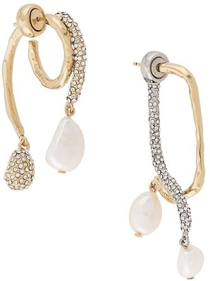Givenchy Asymmetrical Embellished Earrings