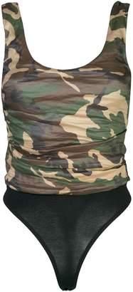 Nicole Miller camouflage print bodysuit