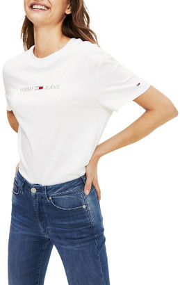 Tommy Jeans Organic Cotton Cropped T-Shirt
