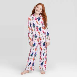 Off-White Girls' 2pc Trolls Poly Pajama Set