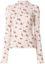 See by Chloe long sleeved floral T-shirt