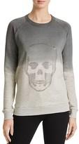 Aqua Studded Skull Sweatshirt