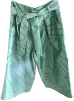 Issa Green Silk Trousers for Women