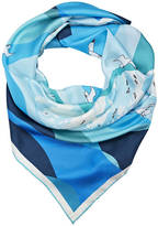 Anna Lou of London Cliffs Of Dover Silk Scarf